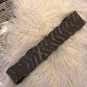Anthropologie Jasper & Jeera beaded leather belt M